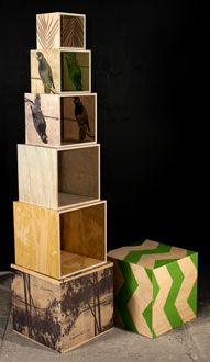 wooden storage cubes from bonnie and neil Cube Storage, Storage Boxes, Bonnie And Neil, Stationery Companies, Pick And Mix, Furniture Making, Furniture Ideas, Little Boxes, All Things Christmas