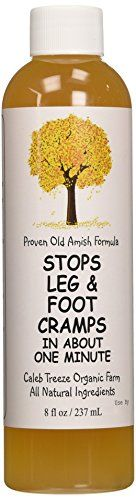 Caleb Treeze Organic Farms Stops Leg  Foot Cramps 8 oz *** Click for Special Deals #OrganicAppleCiderVinegar
