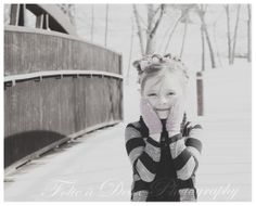 Baby it's Cold OutSide! #Gorgeous #Oklahoma #Snow #PlayTime #BlackAndWhite #AllSmiles #HappyGirl #HappyGirlsAreThePrettiest #Dimples #BlackAndWhitePhotography #FolieaDeux #FolieaDeuxPhotography #CrazinessForTwo #FunInTheSnow #SnowAngel #BigEyes #BrightEyes  #ChildrensPhotography #Fun #SundayFunday