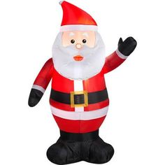4 airblown inflatable waving santa christmas inflatable walmartcom - Christmas Inflatables At Walmart