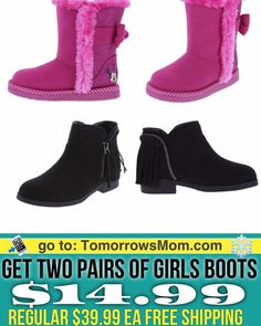 BOGO 50% off boot Sale kids and Women get both for $29.99 plus Free Shipping. I'm Click link in my bio @tomorrowsmom -read .  Type this link on your browser: . TomorrowsMom.com  or follow the link in my Bio a@Tomorrowsmom at TomorrowsMom.com #tomorrowsmom . #holidays #christmas #gifts #frugal #savings #deals #cosmicmothers #feminineenergy #loa #organic #fitmom #health101 #change #nongmo #organiclife #crunchymama #organicmom #gmofree #organiclifestyle #familysavings #frugal #healthyhabits…