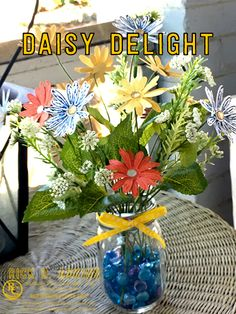"""Daisy Delight Photopolymer Stamp Set, Daisy Delight Bundle, Daisy Punch, Faceted Gem Embellishments, 1/4"""" Double-Stitched Ribbon, 2017 Annual Catalog, Stampin' Up!, #rickadkins, #rckinsmonstudio"""