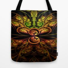 Fractal+Design+Medallion+Tote+Bag+by+Fine2art+-+$22.00