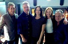 Fotos de Grissom y el equipo 'CSI' rodando su final