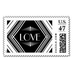 Deco Diamond Love Black | Atelier Isabey Stamps