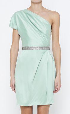 Mint | asymmetrical one shoulder dress
