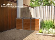 Five Modern Screens For Outdoor Garbage Bins is part of exterior Renovation Apartment Therapy - Garbage bins are often an afterthought on the exterior of our homes Garbage Can Storage, Garbage Shed, Garbage Recycling, Recycling Bins, Modern Outdoor Storage, Outdoor Decor, Outdoor Living, Bin Shed, Outside Storage