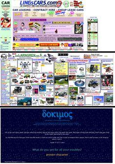 Aplicar coneixements: tres exemples de pàgines amb mala usabilitat (http://www.lingscars.com/, http://arngren.net/ i http://dokimos.org/index.aspx). (Individual)
