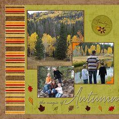 autumn scrapbook page layout