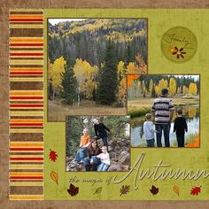 autumn scrapbook page layout                                                                                                                                                                                 More
