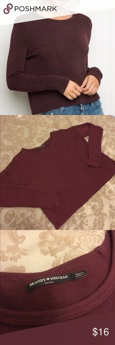 Brandy Melville Maroon Sweater Top In good used condition. No flaws. Brandy Melville Other