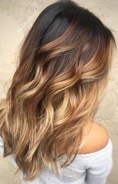 Brunette to Blonde Waves