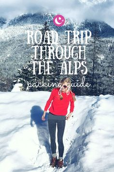 Travel tips packing guide for road trip through the alps winter packing t. Winter Packing, Packing List For Travel, Packing Tips, Road Trip Essentials, Road Trip Hacks, Travel Advice, Travel Tips, Travel Hacks, Travel Destinations