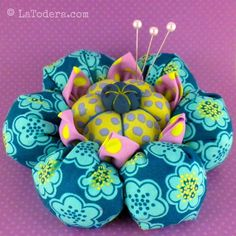 Flower Pincushion Pattern Tutorial- Cactus Blossom Pincushion by La Todera