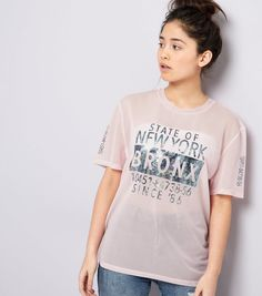 Teens Pink Mesh Marble Metallic Bronx Print T-Shirt | New Look