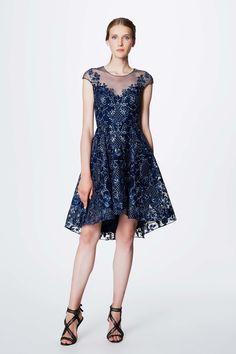 Marchesa Notte Resort 2017: Beautiful blue embroidered dress