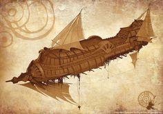 ArtStation - Sky cruiser, Ilya Golitsyn