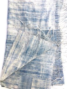 A personal favorite from my Etsy shop https://www.etsy.com/listing/524119853/indigo-mud-cloth-faded-blue-77-long-82