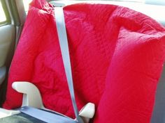 nappernoo kid comfort pillow that is used with backless boosters red