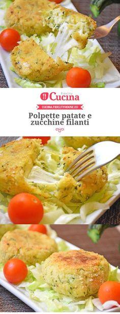#Polpette #patate e #zucchine filanti