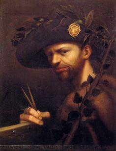 Birthday of Gian Paolo Lomazzo, Italian Renaissance painter, writer, Self portrait. Italian Renaissance, Renaissance Art, Renaissance Portraits, Oil On Canvas, Canvas Art, Giorgio Vasari, Art Criticism, Selfies, European Paintings