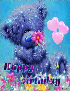 Butterfly Bear Happy Birthday Wish happy birthday birthday quotes birthday wishes birthday greetings birthday gifs Happy Birthday Lover, Happy Birthday Gif Images, Happy Birthday Greetings Friends, Happy Birthday Wishes Photos, Special Birthday Wishes, Happy Birthday Celebration, Happy Birthday Wishes Cards, Happy Images, Birthday Gifs