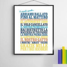 """Poster Personalizzato """"Ti ricordi, quando ..."""""""