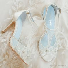 T Strap Wedding Shoes with Beading and Flower Embroidery, Mesh and Ivory Silk Bridal Heels Bella Belle Shoes Paloma T Strap Wedding Shoes with Beading and Flower Embroidery Mesh image Best Bridal Shoes, Boho Wedding Shoes, Wedding Boots, Bridal Heels, Wedding Heels, Ivory Wedding, Wedding Accessories, Wedding Shoes Lace Wedges, Casual Wedding