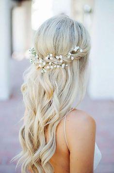 Svatební účes pro dlouhé vlasy. Wedding hairstyle.