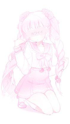 Cute kawaii anime wallpaper ♥ lolita Anime Girl Pink, Kawaii Anime Girl, Manga Girl, Cute Anime Wallpaper, Pastel Wallpaper, Aesthetic Japan, Aesthetic Anime, Pink Aesthetic, Pink Art