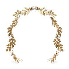 Notonthehighstreet.com: Gold laurel leaf wreath by Cherished