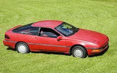 1989 Ford Probe, Finally a Sporty car! This car wouldn't quit, even after I sold it it just kept going. I liked the digital dash! Mazda Capella, Electric Car Conversion, Ford Probe, Cars Usa, Rear Wheel Drive, Red Interiors, First Car, Future Car, Old Cars