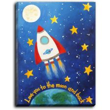 Spaced Themed Nursery Crib Bedding & Room Decor