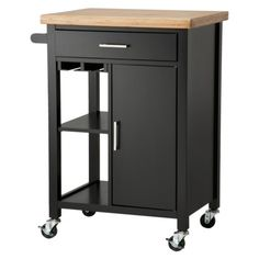 Room Essentials™ Kitchen Storage Cart - Black