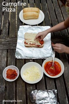 Everyone is going to love this delicious campfire pizza! You can easily make it on your backyard grill or in your campfire. Delicious, easy summer dinner idea.