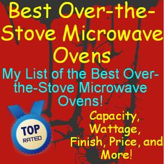 I have carefully researched and selected the Best Over the Stove Microwave Ovens. Check out my List to get you started and hopefully save you some time! Over The Stove Microwave, Microwave Oven, Save Yourself, Kitchen Appliances, How To Get, Ovens, My Love, Kitchen Ideas, Check