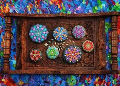 Artist Creates Colorful Mandalas By Painting Ocean Stones With ...
