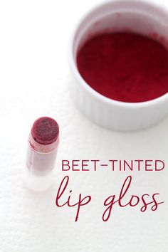 Beet Tinted Lip Gloss - In Sonnet's Kitchen Homemade Lip Balm, Diy Lip Balm, Tinted Lip Balm, Homemade Skin Care, Lip Tint, Diy Skin Care, Powder Lipstick, Diy Lipstick, Natural Beauty Recipes