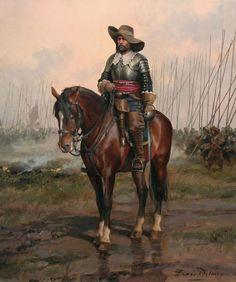 Spanish Cavalry officer, Thirty Years' War (1616-1648) by Augusto Ferrer-Dalmau…