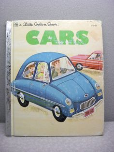 Vintage Cars A Little Golden Book by adoptabook on Etsy Vintage Children's Books, Vintage Cars, Funny Toons, Read It And Weep, Little Golden Books, New Books, Childrens Books, The Book, Comic Books