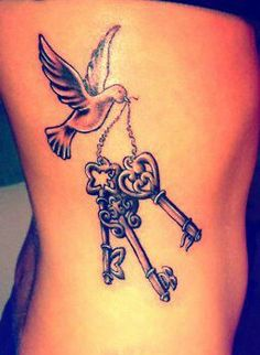 Dove with keys