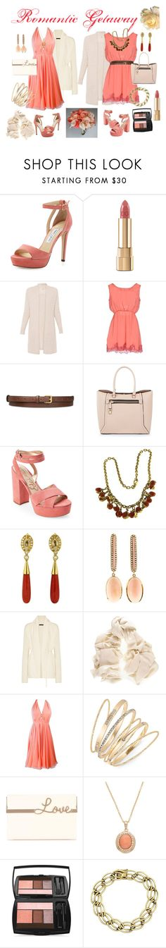 """Diane's Romantic Weekend Getaway"" by lora-86 ❤ liked on Polyvore featuring Jimmy Choo, Dolce&Gabbana, PINK MEMORIES, STELLA McCARTNEY, New Look, Sam Edelman, The Row, Black, Halston and Thalia Sodi"