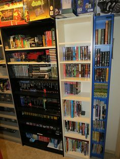 There are so many ways to have that one room in your house, for instance, turning your little space into a video games room. We will show you the ideas that you can always steel to decorate your video games room become the cosiest place you can have! Video Game Shelf, Video Game Storage, Video Game Organization, Video Game Rooms, Video Games, Games Room Inspiration, Online Games For Kids, Gamer Room, Room Setup