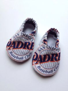 San Diego Padres Cloth Baby Booties
