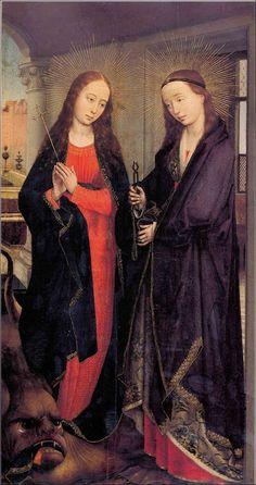 Rogier Van der Weyden sainte marguerite et sainte_apollonie