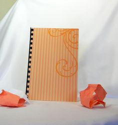 Logon and password notebook organizer with a peach by GunnySack, $10.00