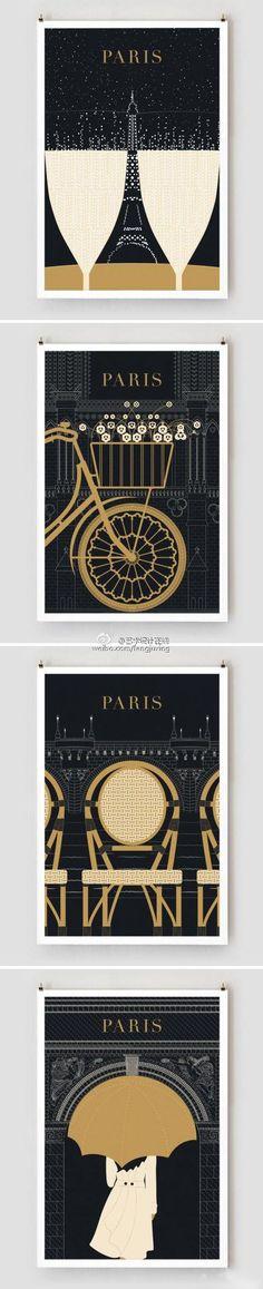 海报设计鉴赏】巴黎旅行海报设计.