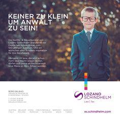 Anuncio diseñado para el despacho de abogados Lozano Schindhelm, como felicitación del 100 Aniversario del Colegio Alemán de Bilbao.