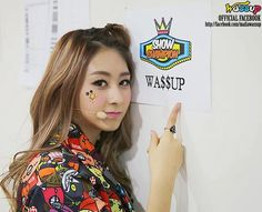 WOOJOO - the final member of the still standing Wa$$up.. seemingly boasting at being the Show Champion.  Wa$$up?  Her finger.  AMx