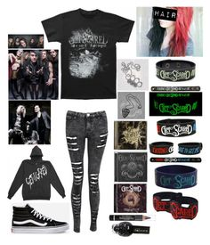 """Get Scared (outfit 2)"" by katlanacross ❤ liked on Polyvore featuring Vans, L'Oréal Paris, women's clothing, women's fashion, women, female, woman, misses and juniors"